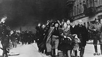 Jews being deported in Warsaw