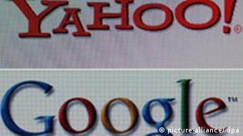 Yahoo and Google logos