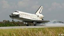 Bdt Space Shuttle Discovery landet im Kennedy Space Center in Cape Canaveral