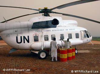 UN-Hubschrauber (Foto: WFP/Richard Lee)