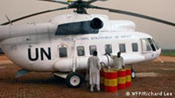 Sudan, El Geneina airport, West Darfur, August 2004