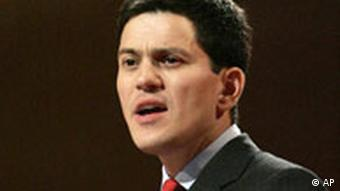 Außenminister Miliband