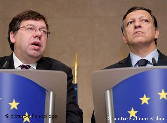 Brian Cowen and Jose Manuel Barroso