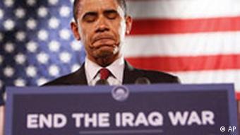 Democratic presidential hopeful Sen. Barack Obama speaking