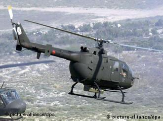A BO-105 helicopter of the Spanish Army