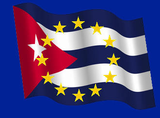 EU and Cuba flags