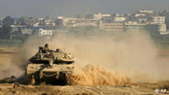 Israel Militärübung bei Gaza Panzer