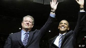 Gore und Obama (Quelle: AP Photo/Alex Brandon)