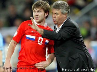 Тренер немецкой футбольной команды на чемпионате 2008