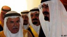 König Abdullah Ölpreis Krisengipfel in Dschiddah Saudi Arabien erhöht Liefermenge