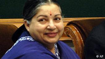 Portrait Jayalalithaa, Ministerpräsidentin des indischen Bundesstaates Tamil Nadu (Foto: DW)