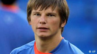 Andrei Arshavin during a training session