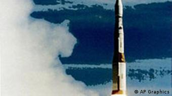 Payload launch missile used in national missile defense test, drawing, partial graphic
