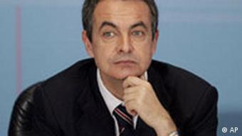 Head shot of Spanish PM Zapatero