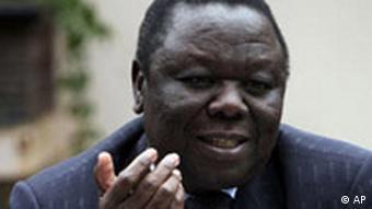 Simbabwe Morgan Tsvangirai Pressekonferenz in Harare