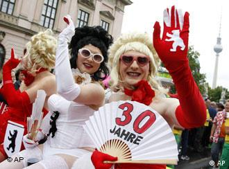Gays and lesbians celebrate diversity in Berlin's Christopher Street Day Parade