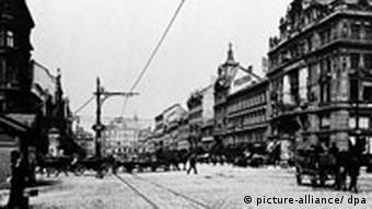 Franz Kafka Arbeitsstätte Wenzelsplatz Prag