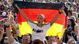 Njemački fanovi u Berlinu za vrijeme EP u nogometu 2008.