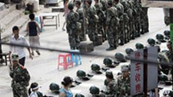 China Proteste Polizei in Weng'an