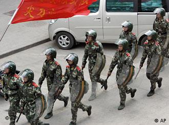 China is known for using police or military force at the slightest sign of resistance