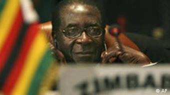 Zimbabwe President Robert Mugabe attends the eleventh ordinary session of the assembly of the African Union heads of State and government in Sharm el-Sheikh, Egypt, Monday, June 30, 2008.