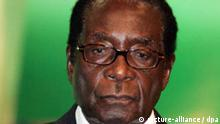 Zimbabwean President Robert Mugabe is photographed during a break at the 11th Ordinary Session of the Assembly of the African Union (AU) in the Sharm El-Sheikh International Congress Center in Sharm El-Sheikh, Egypt, June 30, 2008.Ref: B950_115885_0001Date: 30.06.2008COMPULSORY CREDIT: Xinhua/Photoshot +++(c) dpa - Report+++