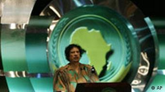 Ägypten AU-Gipfel in Scharm El Scheich Muammar el Gaddafi