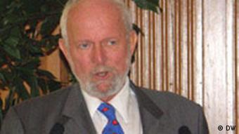 Prof. Dr. Ernst Ulrich von Weizsäcker am 29.6.2008 an der Stanford Universität (Foto DW/Christina Bergmann)