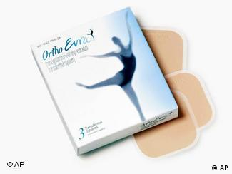 Ortho Evra transdermal contraceptive patches and package