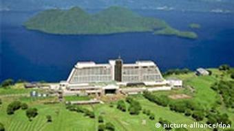 G8-Gipfel Windsor Hotel Tagungshotel im nordjapanischen Toyako Toya See auf Hokkaido