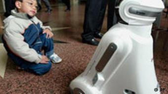 Der Familienroboter IROBI von dem südkoreanischen Hersteller Yujin Robotics, Quelle: AP