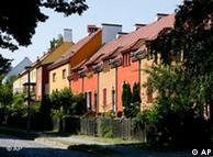 Casas geminadas na cidade-jardim de Falkenberg