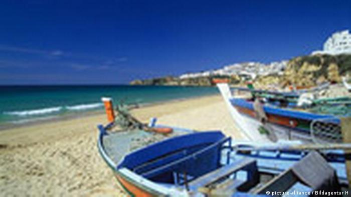 Strand von Albufeira Portugal, Algarve (picture-alliance / Bildagentur H)