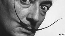 dali1.jpg In this handout photo provided by the Philadelphia Museum of Art, a 1942 portrait of artist Salvador Dali by Philippe Halsman is seen. The Salvador Dali exhibit opening in Philadelphia Wednesday may surprise those who remember the Spanish surrealist mostly for his outlandish self-promotion and studied eccentricity. While his lobster telephones are evident, so too is the Raphael-like beauty and technical mastery of Dali's painting. (AP Photo/Courtesy of the Howard Greenberg Gallery via the Philadelphia Museum of Art, Philippe Halsman)