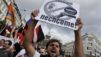 Czech protestors
