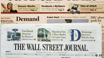 Zeitungen, The Financial Times und The Wall Street Journal