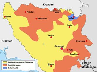 Zerklüftetes Bosnien und Herzegowina