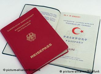 A German and a Turkish passport