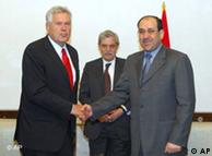 وزير الاقتصاد الالماني في بغداد قبل عام