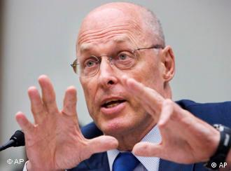 ** FILE** In this July 10, 2008 file photo, Treasury Secretary Henry Paulson testifies on Capitol Hill in Washington, before the House Financial Services Committee hearing on systemic risk and the financial markets. Paulson, seeking to calm nervous investors about the financial state of Fannie Mae and Freddie Mac said Friday the government's primary policy focus currently is to leave the congressionally-created mortgage giants intact Friday, July 11, 2008 (AP Photo/Manuel Balce Ceneta, File)