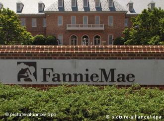 Am Sitz des Hypotheken-Finanzierers Fannie Mae in Washington (Foto: dpa)