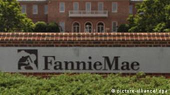 Sign in front of brick building reads Fannie Mae