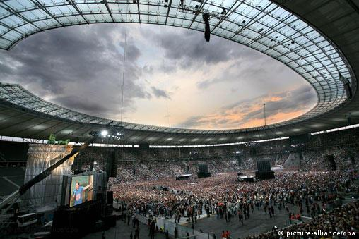 The audience at the Olympic Stadium