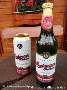 A can and a bottle of the Czech Budweiser