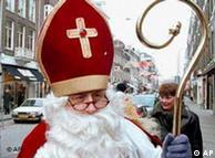 São Nicolau numa rua de Amsterdã