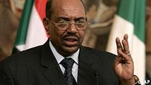 ** FILE ** In this Friday, Sept. 14, 2007 file photo, Sudanese President Omar al-Bashir is seen in Rome, Italy. Prosecutor Luis Moreno-Ocampo asked a three-judge panel at the International Criminal Court to issue an arrest warrant for President Omar al-Bashir on genocide charges Monday July, 14, 2008, accusing him of masterminding attempts to wipe out African tribes in Darfur with a campaign of murder, rape and deportation. (AP Photo/Gregorio Borgia, File)