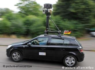 Google Street View camera on a car