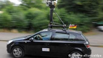 Google car with mounted camera