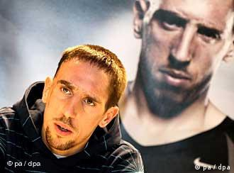 Franck Ribery at a press event