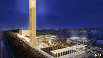 An artist's rendering of the German-designed mosque in Algiers